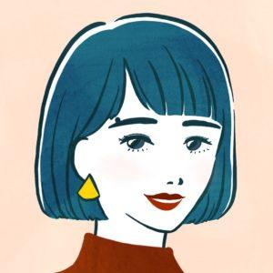 イラストレーターなめきみほの自画像イラスト